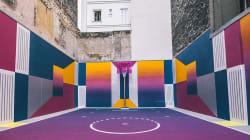 Le terrain de basket coloré et sublime de la rue Duperré à