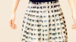生活感あふれているのに、なぜかオシャレ。団地柄のスカートが大反響