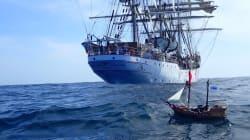 Un barco pirata de Playmobil lanzado desde Canarias cruza el Atlántico hasta