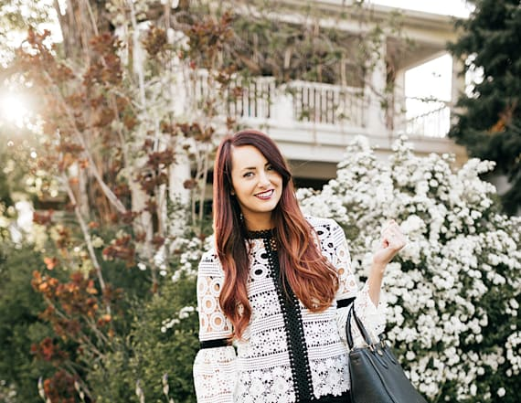Street style tip of the day: Black and white crochet