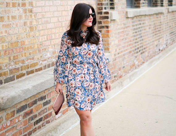 Street style tip of the day: Chic floral dress