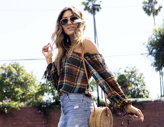 Street style tip of the day: Plaid for summer