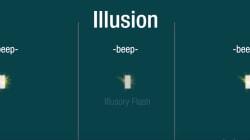 La última ilusión óptica: ¿cuántos destellos