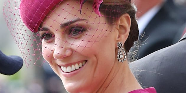 Kate Middleton, en la boda de Eugenia de York.