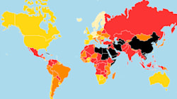 Los peores países en materia de libertad de