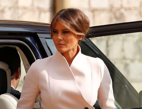 Melania Trump meets the queen in Dior