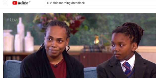 9月15日、テレビ番組「This Morning」に出演した母親と男子中学生