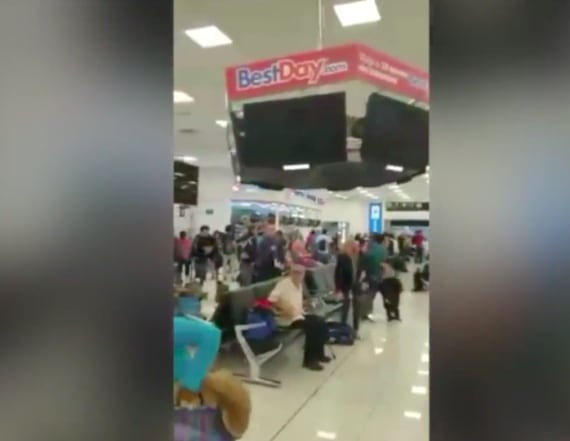 Video shows Mexico City Airport as quake struck
