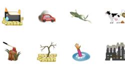 El cambio climático en emojis
