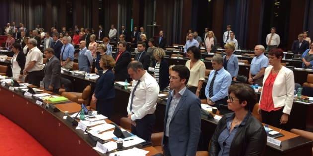 Confusion autour du départ d'élus FN pendant un hommage à Simone Veil.