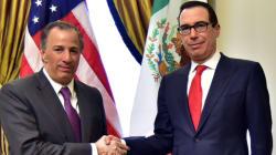 Esta foto de Meade con el secretario del Tesoro de EU es de