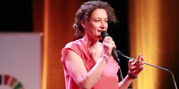 La nomination d'Emmanuelle Wargon, ancienne cadre de Danone - ici lors d'une conférence en juin 2018 - au ministère de la Transition écologique fait grincer des dents