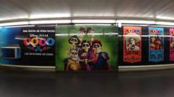 Tapizan el metro de Madrid con imágenes de