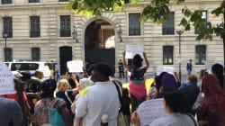 Des mal logés protestent devant l'appartement de fonction de Benalla à
