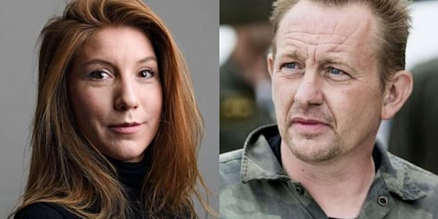 La periodista muerta, Kim Wall, y el inventor e investigado por el crimen, Peter Madsen.