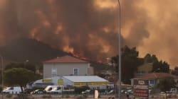 Les images des violents incendies qui ravagent le Sud-Est de la France et la