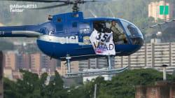 Un hélico volé à la police vénézuélienne attaque la Cour suprême à la