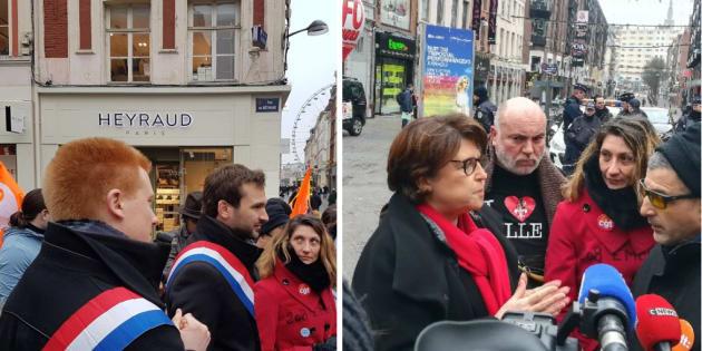 Aubry, Quatennens et Bernalicis aux côtés des salariés de Pimkie à Lille