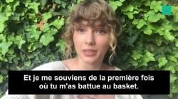 Taylor Swift envoie un message plein d'humour au meilleur joueur