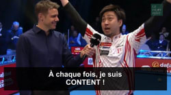 Ce joueur de billard japonais donne des interviews