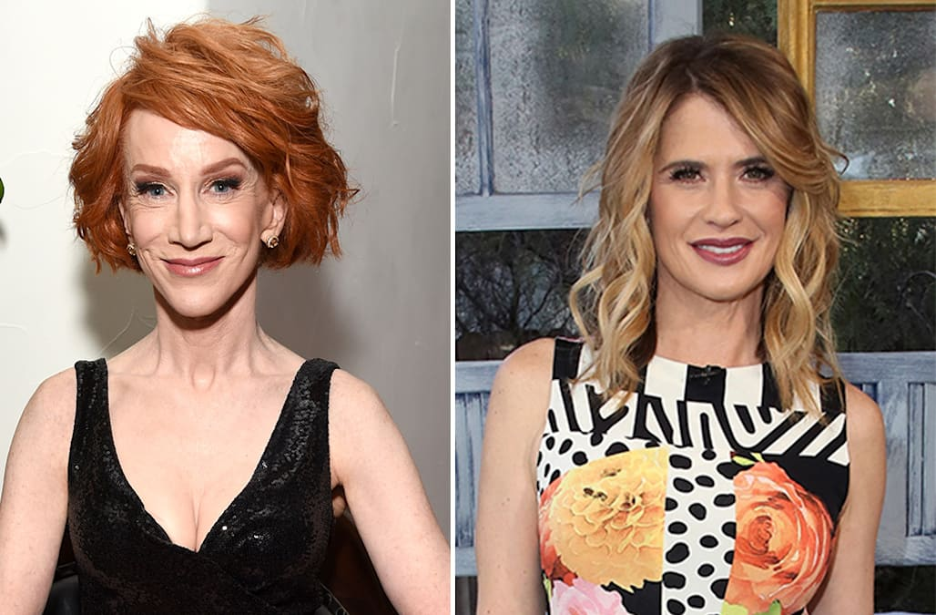 Kathy Griffin And Kristy Swanson Spar Over Trumps Border Wall Aol