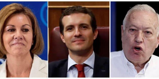 Cospedal, Casado y Margallo