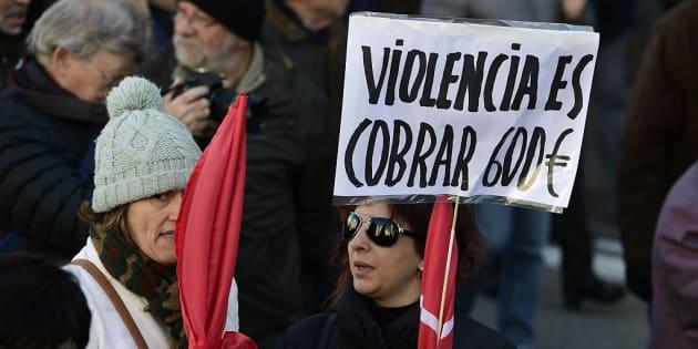 Imagen de archivo de una manifestación contra los recortes.