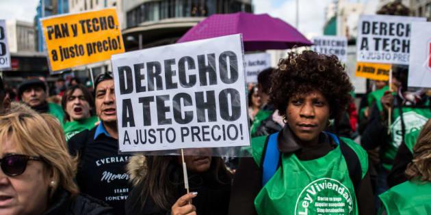 Manifestación por una vivienda digna en Madrid.