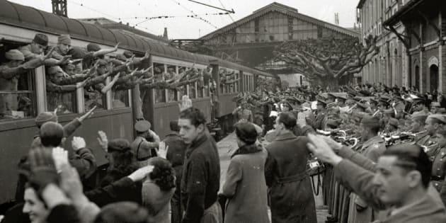 Despedida a los soldados integrantes de la División Azul en San Sebastián.