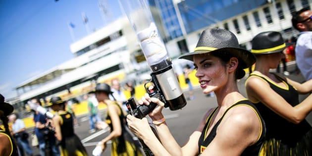 Azafatas en el Gran Premio de Hungría de F1.