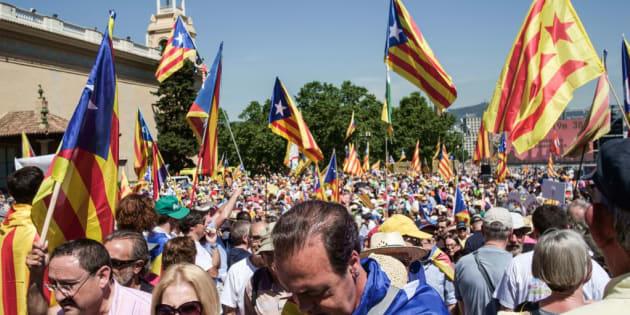 Manifestación celebrada el pasado junio en Barcelona en defensa del referendum por la independencia de Cataluña.