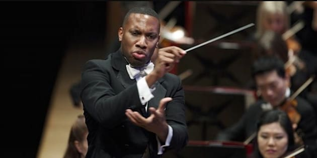 American conductor Roderick Cox leads Johannesburg Philharmonic Orchestra at its relaunch on Wednesday night.