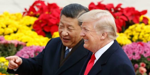 El presidente chino, Xi Jinping, con Donald Trump durante la reciente gira por Asia del presidente americano
