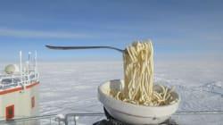 Manger des pâtes par -65°C peut s'avérer