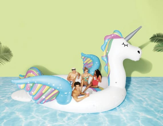 Target is selling a giant 6-person unicorn float