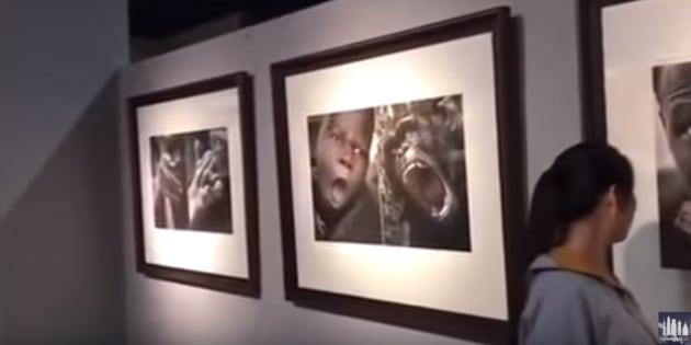 A mostra foi cancelada após denúncias dos visitantes.