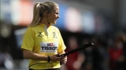 Elle sera la première femme à arbitrer un match européen de rugby