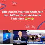 BFMTV conteste les chiffres du ministère, les gilets jaunes