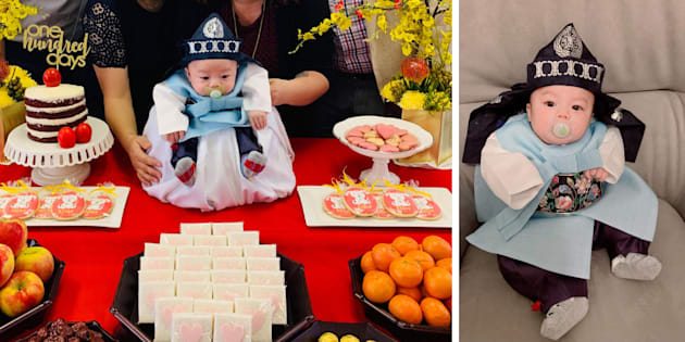 Three-month-old Elliot Noah Ye went viral after his aunt posted pictures from his Baek-il celebration on Twitter.