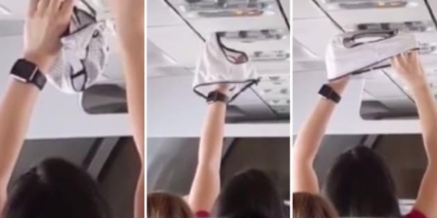 Cette vidéo totalement culotée filmée dans un avion vaut le détour