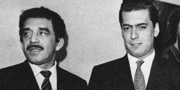 Gabriel García Márquez (Izquierda) y Mario Vargas Llosa.