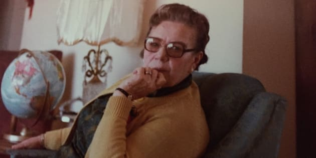 The author's great-grandmother Mary in the 1970s.