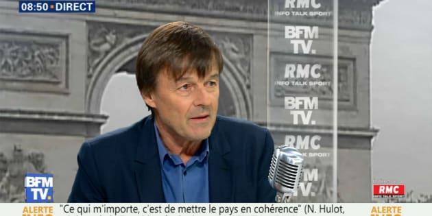 """Nicolas Hulot sur le plateau de BFMTV: """"Non on ne recule pas, on avance au contraire!"""""""