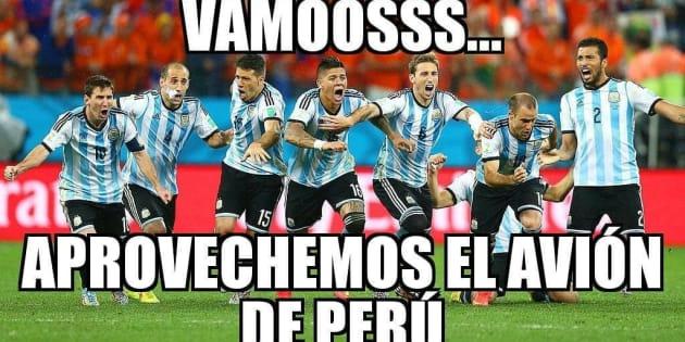 Una de las reacciones de usuarios en Twitter tras la eliminación de Argentina de la Copa Mundial.
