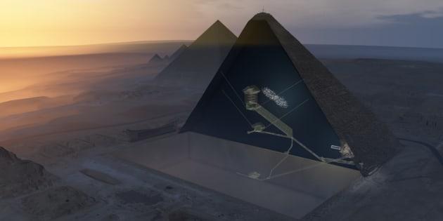 """On a découvert un énorme """"vide"""" caché dans la pyramide de Khéops"""