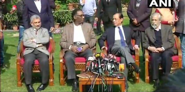 SC judges address press conference for the first time