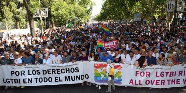 Cabecera del Orgullo Mundial 2017 en Madrid.