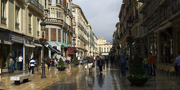 Malaga, Calle Larios.
