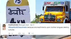 People Are Pushing Back With #StopHindiChauvinism, As Hindi Appears On Highway Milestones In Tamil