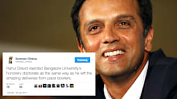 Internet Can't Stop Hailing Rahul Dravid After He Turns Down An Honorary Doctorate From Bangalore
